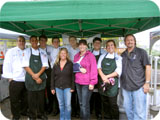 The chefs and judges from the Olathe COUNTRY Chef Challenge