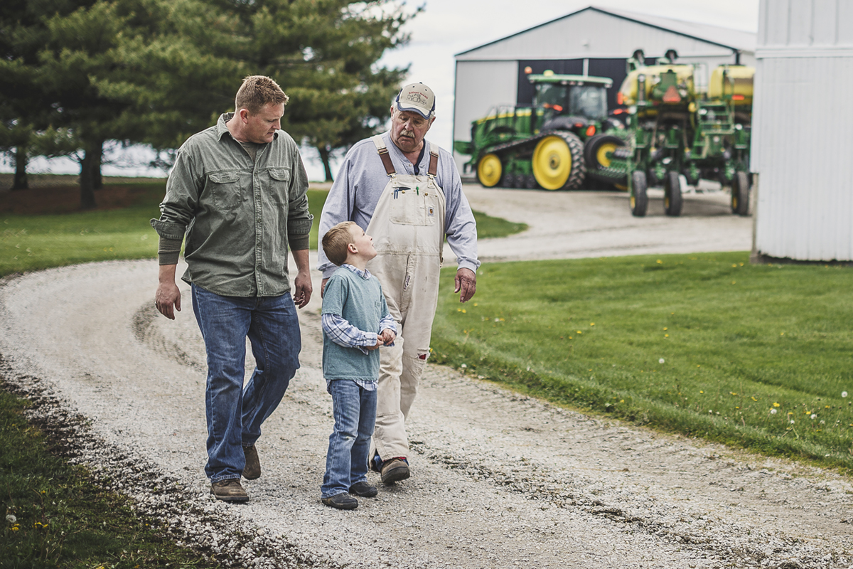 Three generations on a family farm